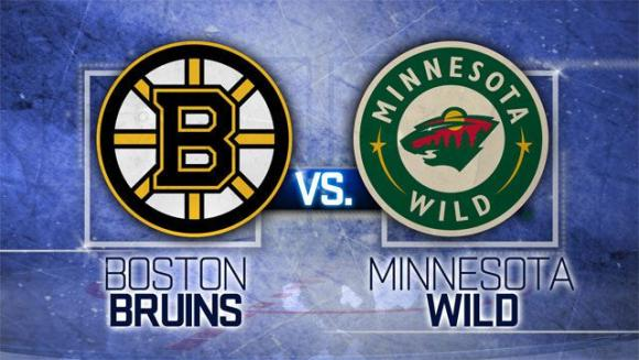 Minnesota Wild vs. Boston Bruins at Xcel Energy Center