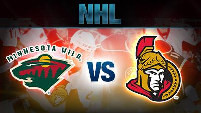 Minnesota Wild vs. Ottawa Senators at Xcel Energy Center