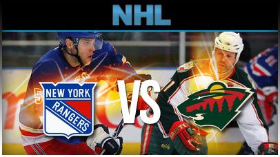Minnesota Wild vs. New York Rangers at Xcel Energy Center