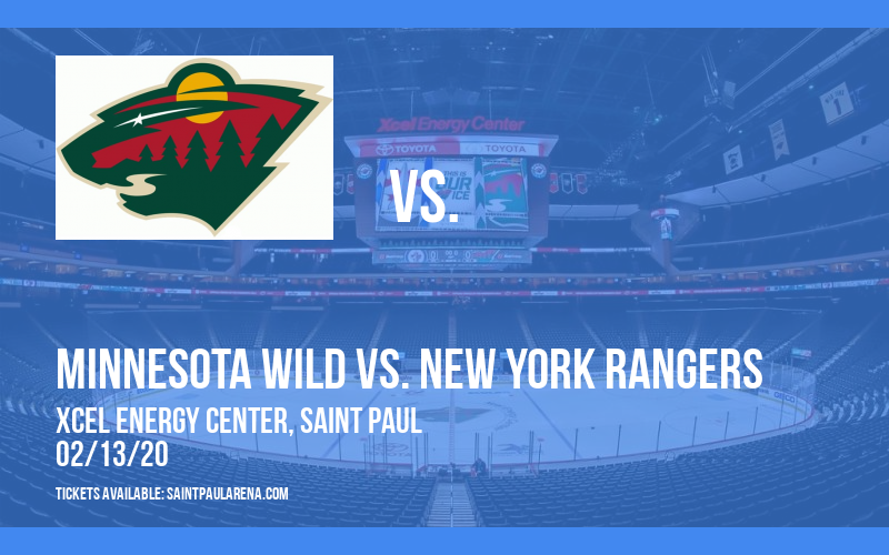 Minnesota Wild vs. New York Rangers at Xcel Energy Center