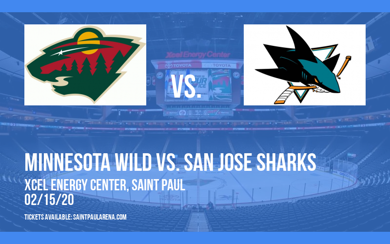 Minnesota Wild vs. San Jose Sharks at Xcel Energy Center