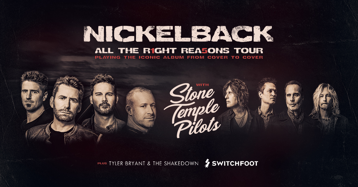 Nickelback, Stone Temple Pilots & Tyler Bryant and The Shakedown at Xcel Energy Center
