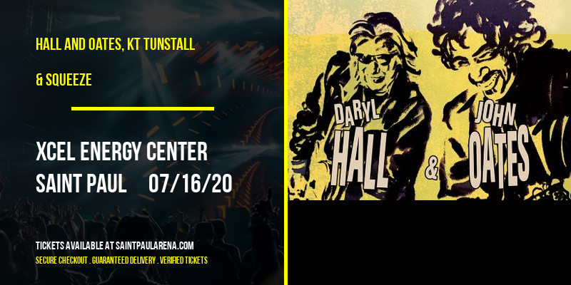 Hall and Oates, KT Tunstall & Squeeze [POSTPONED] at Xcel Energy Center