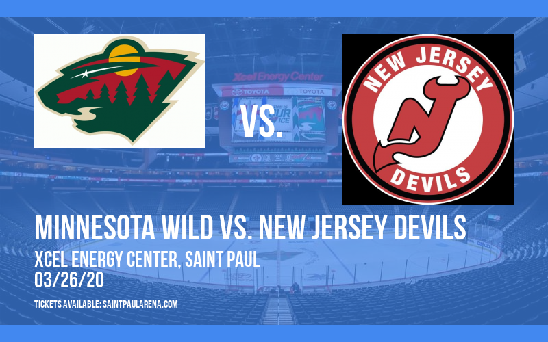 Minnesota Wild vs. New Jersey Devils [CANCELLED] at Xcel Energy Center