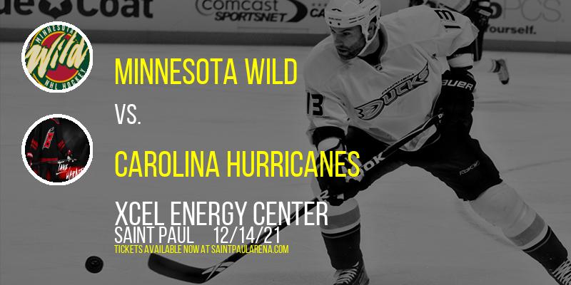 Minnesota Wild vs. Carolina Hurricanes at Xcel Energy Center